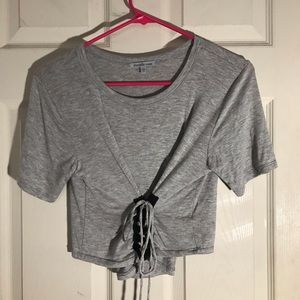 Charlotte Russe corset t shirt